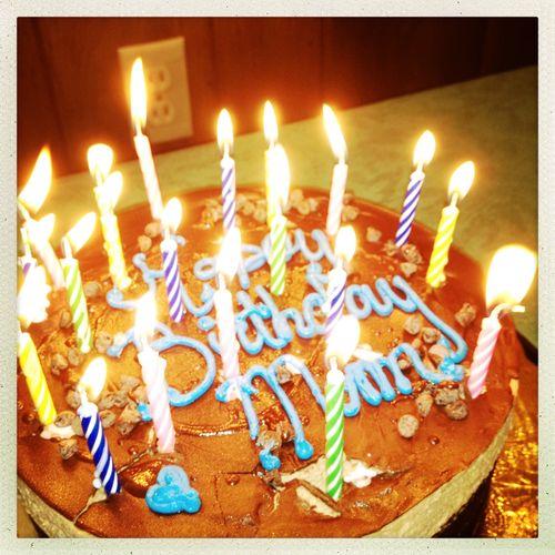 Birthday Cake Lit Up