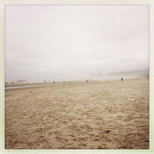 Foggy Beach Pacific Ocean