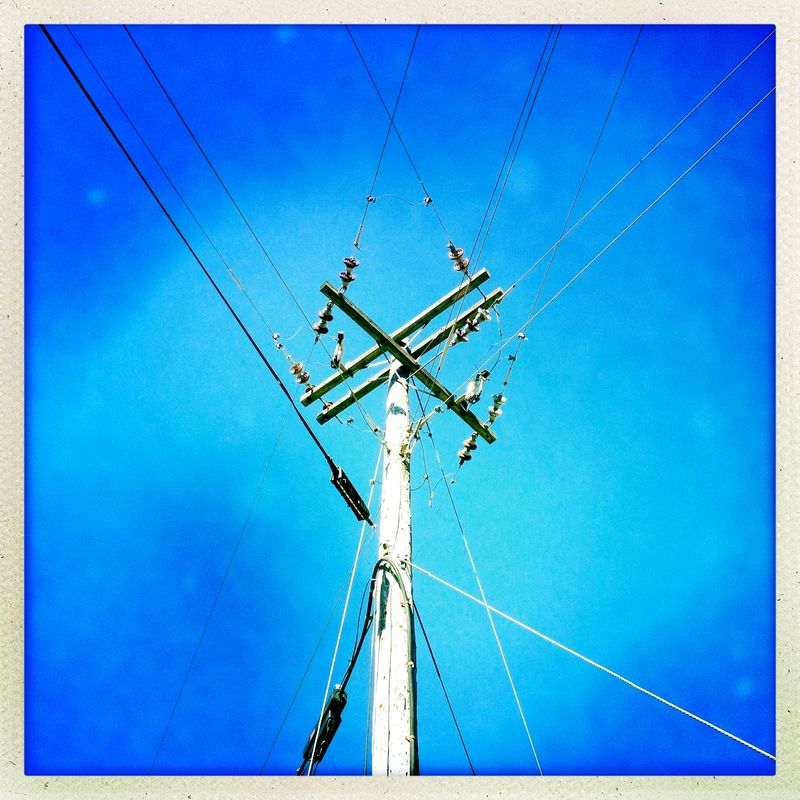 9:11 Blue Skies Telephone Pole