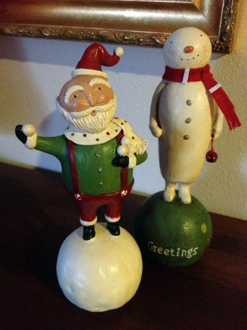 Santa and Snoman figures 2