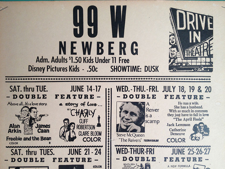 SO 5 Drive In PlayBill