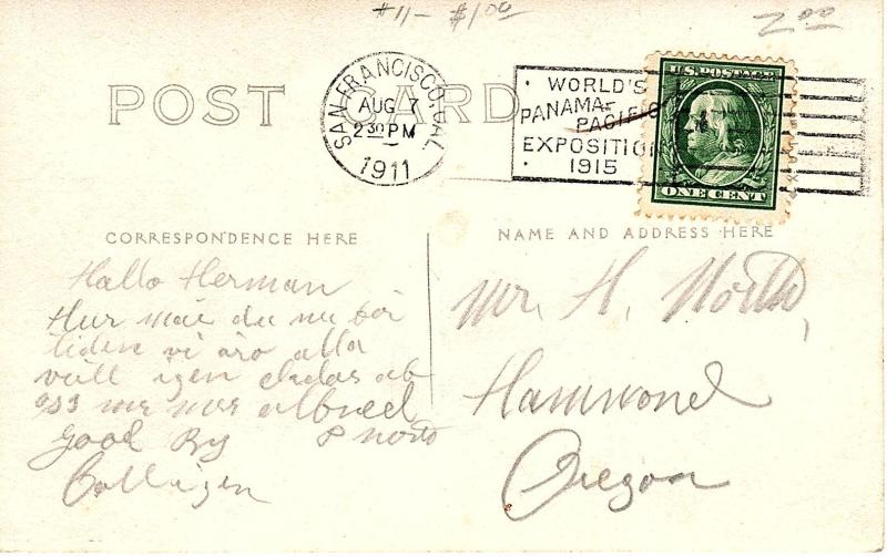Antique Summer Postcard (B)